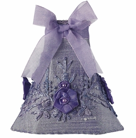 lavender floral bouquet chandelier shade