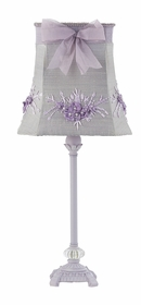 lavender scroll glass ball lamp-bouquet shade