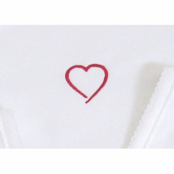 layette set - hearts (deluxe)