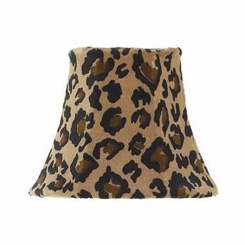 leopard chandelier shade