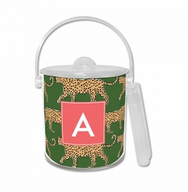 Leopard Green Ice Bucket