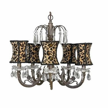 leopard hourglass chandelier shade