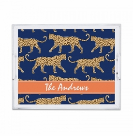 Leopard Navy Small Tray