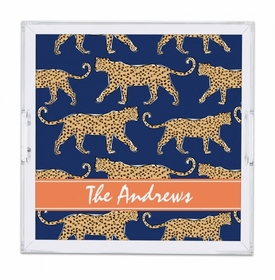 Leopard Navy Tray