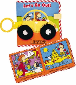 let's go out! soft, cloth baby book by Lamaze