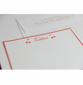 letitia cherry baby stationery