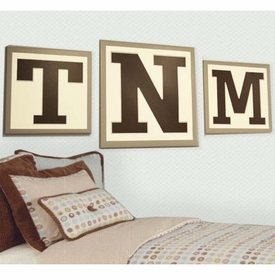 letter monogram wall art - set of 3