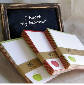letterpress apple notecards