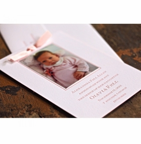 letterpress baby announcement - olivia