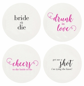 Letterpressed Bachelorette Coasters