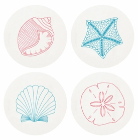 Letterpressed Beach Coasters