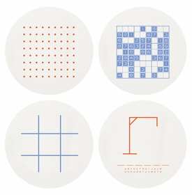 Letterpressed Games Coasters