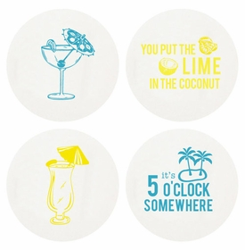 Letterpressed Happy Hour Coasters