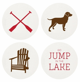 Letterpressed Lake Life Coasters