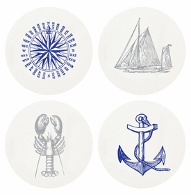 Letterpressed Nautical Coasters