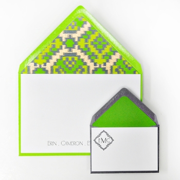 letterpressed notes and enclosures