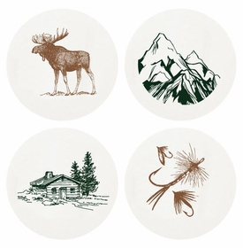 Letterpressed Outdoors Coasters