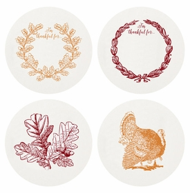 Letterpressed Thankful Coasters