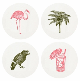 Letterpressed Tropical Coasters