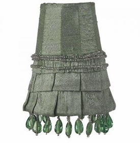 light green skirt dangle sconce shade