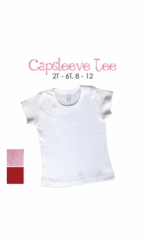 lil sis (blond)  personalized cap sleeve tee