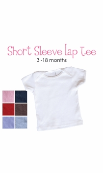 lil sis (blond)  personalized short sleeve lap tee