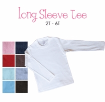 lil sis (blonde)  personalized long sleeve tee (toddler)