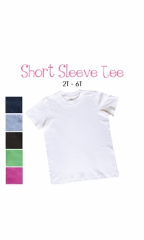 lil sis (blonde) personalized short sleeve tee (toddler)