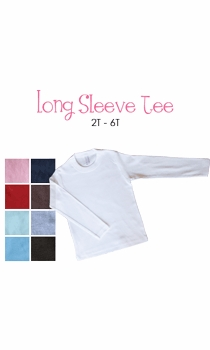 lil sister (brunette) personalized long sleeve tee (toddler)