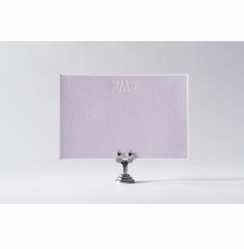 lilac monogram note cards