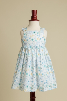 lillian apron dress in blue
