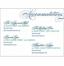 lily & dillon accommodations card