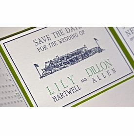lily & dillon save the date cards