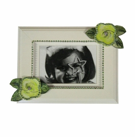 lime roses with bling picture frame
