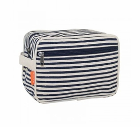 lined travel kit - striped navy