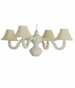 linen bella spindle chandelier