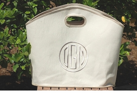 linen monogrammed gg tote