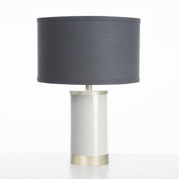 linen table lamp gold finish