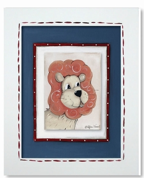 lion framed canvas reproduction wall art - SOLD OUT