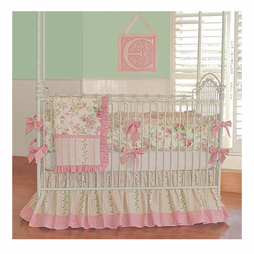 bunny blue crib bedding featured at babybox