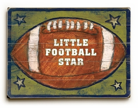 little football star vintage sign