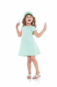 little ladies casual chic cabbage dress