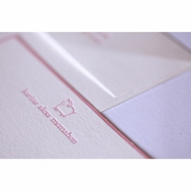 little lamb kid's stationery