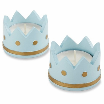 little princess tealight holder (set of 4) pink or blue