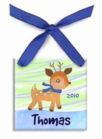 little rudolph christmas ornament (boy)