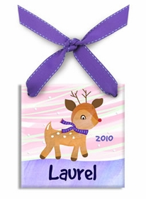 little rudolph christmas ornament (girl)
