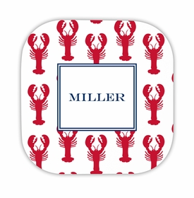 lobsters red hardback rounded coaster<br>(set of 4)