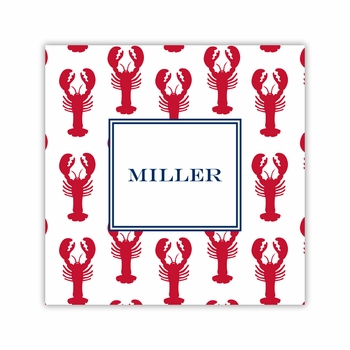 lobsters red square paper coaster<br>set of 50
