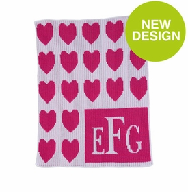Lots of Hearts & Monogram Blanket