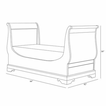 louis phillippe day bed (chateau)